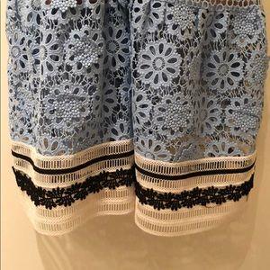 Self-Portrait Dresses - Self-Portrait Pale Blue Lace Midi Dress